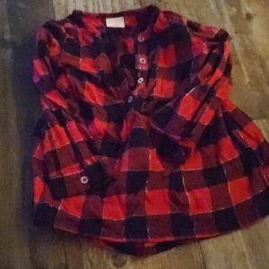 Red toddler shirt